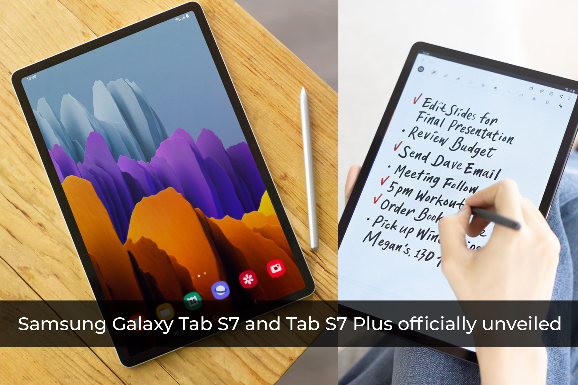 Samsung Galaxy Tab S7 and Tab S7 Plus officially unveiled