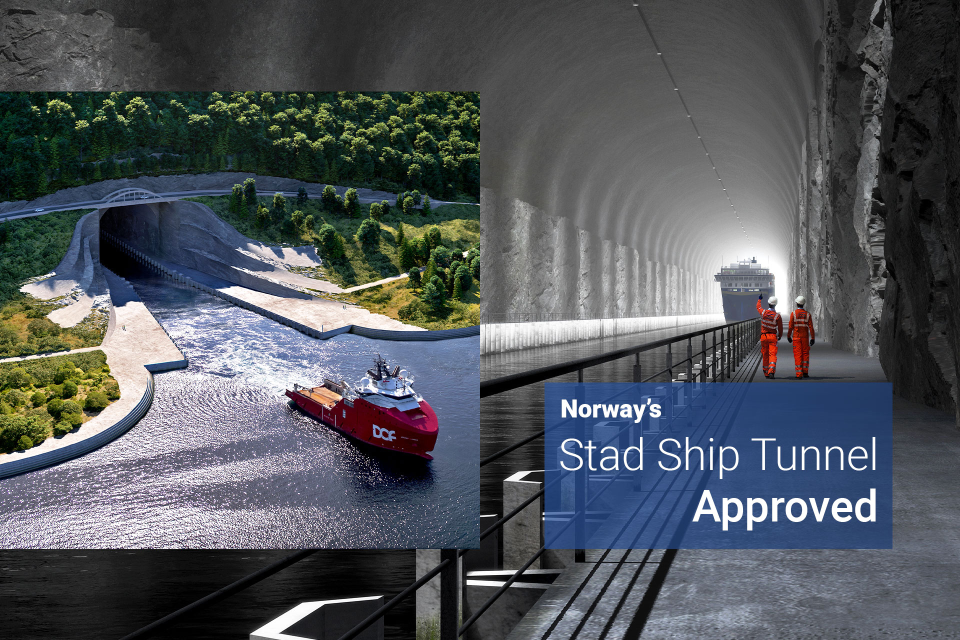 Stad ship tunnel - Norway's ship tunnel approved featured image